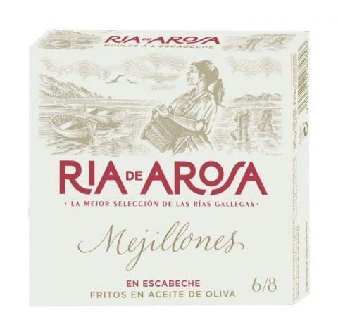 Mejillones en escabeche Ría de Arosa 6-8 piezas 115gr neto 5,89€