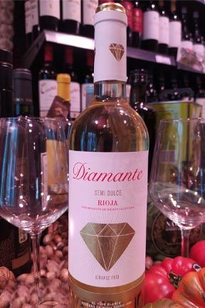 Vino blanco Semidulce diamante