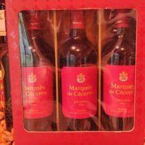Pack de tres vinos de marques de cáceres crianza 2016